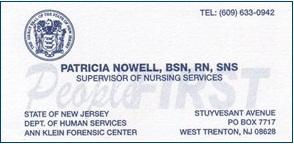 Nowell, Patricia - B.Card