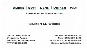 Woods, Sharon - B.Card