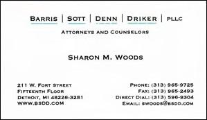 Woods, Sharon - B.Card